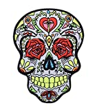 Day of The Dead Sugar Skull Dia De Los Muertos Embroidered Iron on Patch