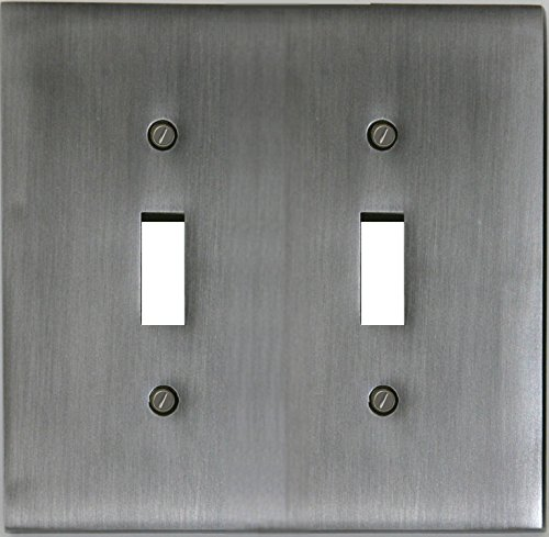 Runwireless Decorative Metal Forged Pewter Wall Plate/Switch Plate - 5-929 (Double Toggle)