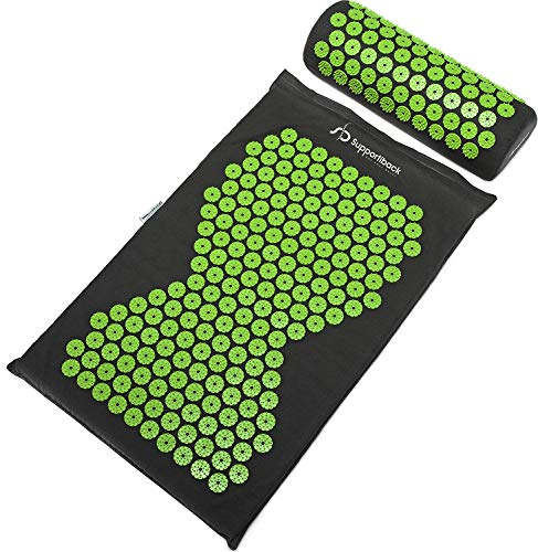 Supportiback Wellness Therapy Acupressure Mat Set - Prick Free Acupuncture Mat and Acupuncture...