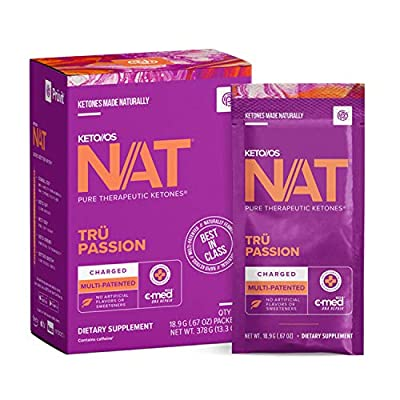 Keto/OS NAT Tru Passion Charged 20 Packets