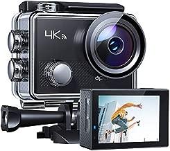 APEMANA77ActionCamera4KWiFiWeb Cam 20MP SportsCam30M WaterproofUnderwaterCamcorder with2.4GRemoteControl and 20AccessoriesKits