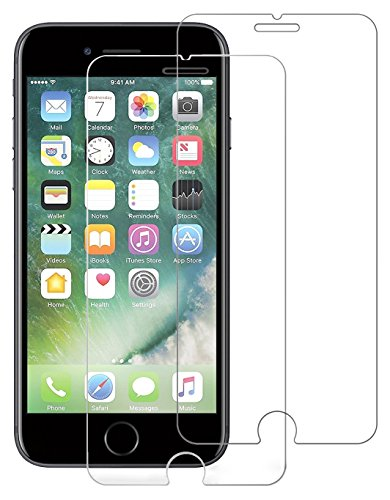 VicKro LLL06 Tempered Glass Screen Protector, 0.26 mm Ballistic Glass Screen Film, Bubble Free 3D Touch Compatible (5.5 Inch) for iPhone 8 Plus,7 Plus, 6S Plus, 6 Plus - 2-Piece