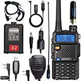 BaoFeng UV-5R Tri-Power High Power Portable Two Way Radio Ham Radio with Extended Kit