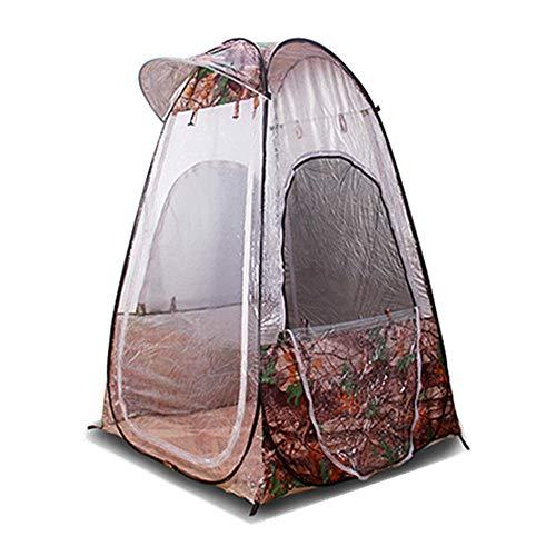 KRUIHAN Tragbare Pop Up Fischen Zelt - Outdoor Wasserdicht Warm Camping Wandern 1 Personen Leichte Umbrella Shed(Tarnen)