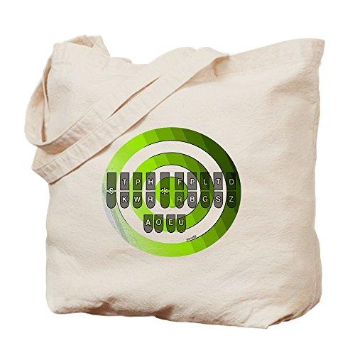 CafePress–Steno _ Tastatur _ Diagramm _ jpg _ Grün–Leinwand Natur Tasche, Reinigungstuch Einkaufstasche
