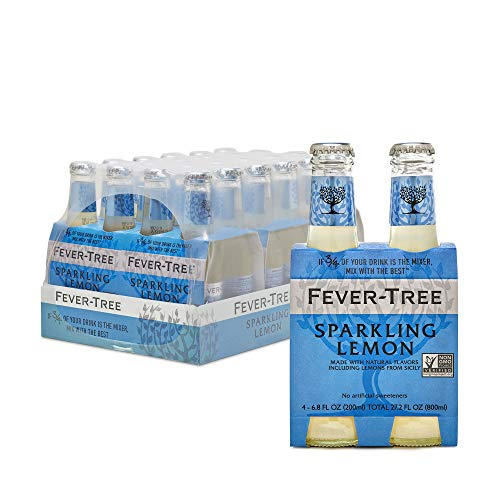 Fever-Tree Premium Sparkling Lemon, No Artificial Sweeteners, Flavourings or Preservatives, 6.8 Fl Oz (Pack of 24)