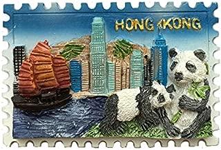 3Dパンダ冷蔵庫マグネット、香港ハーバー観光記念品、観光名所冷蔵庫マグネット、クリエイティブホーム&キッチンデコレーション