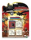 multiprint 11888–Dragons Defenders of Berk 3unidades Juego de sellos , color/modelo surtido
