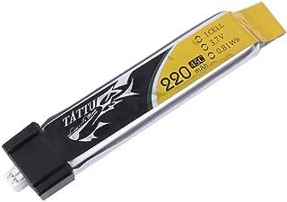 TATTU 3.7V 220mAh 45C 1S LiPo Battery Pack with Ultra Micro for Blade Inductrix Tiny Whoop FPV Nano QX Nano CPX Nano CPS in The E-flite Micro Planes