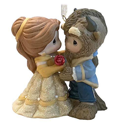 Hallmark Keepsake Christmas Ornament 2019 Year Dated Disney Beauty Belle and Beast Precious Moments, Porcelain