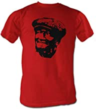 Sanford and Son Fred Stencil Face Red Adult Tee T-Shirt