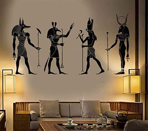 pegatinas de pared Gran Decoración Egipto Egipcio Dioses Habitación Arte Cartel Moderno Ornamento Anubis Ra Seth Apis
