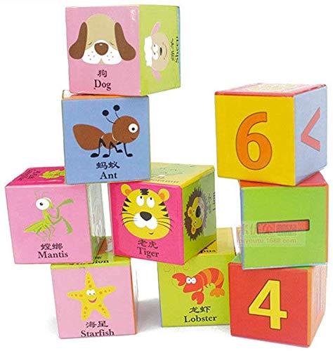 JM Pintura de los niños 3-12 años de seis dimensiones tridimensionales gran edificio de los bloques de los juguetes de los niños,Multicolor,Un tamaño