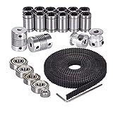 3D Printer Movement Kits for Reprap Prusa i3 - Shaft Coupler + GT2 Timing Belt + 20T Timing Pulley + 608zz Bearing + LM8UU Linear Bearing + 624zz Bearing