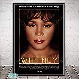 Black B1 Whitney Houston Poster Music Star Canvas Painting