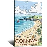 ASFGH Cornwall Vintage Reise Post Strand Dekor Gemälde