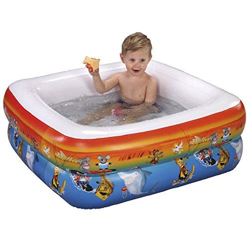 #1118 Baby Planschbecken Badewanne mit aufblasbarem Boden passend für Duschwannen 85 cm Mehrfarbig • Schwimmbecken Kinderpool Baby-Pool