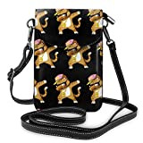 XCNGG bolso del teléfono Women Girls Small Crossbody Cell Phone Purse Wallet with Card Slots Mini Messenger Shoulder Bag Wallet for Travel Work Outdoor, Dabbing Cat Funny Cool Hip Hop Dabbing Kitten