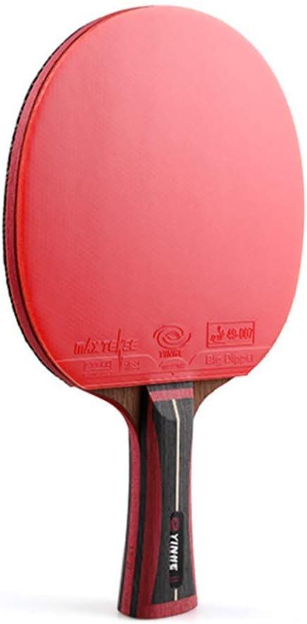 WFENG Raqueta de Tenis de Mesa Competitiva Profesional, Palas Ping Pong de Carbono, Cuchilla de Ping-Pong con Colores en la Empuñadura / 13 Star/mango largo