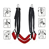 SXOVO Love Swings SM Bondage Kit Sex Sling Loveswing Sex Toy Toys for Men and Women (Red)