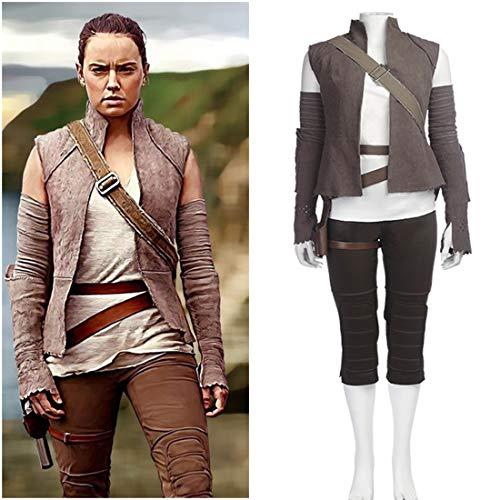 Rubyonly Disfraces Cosplay Rey para Las Mujeres Star Wars Jedi Adulto La Última Película Carnaval Traje,Vest,S