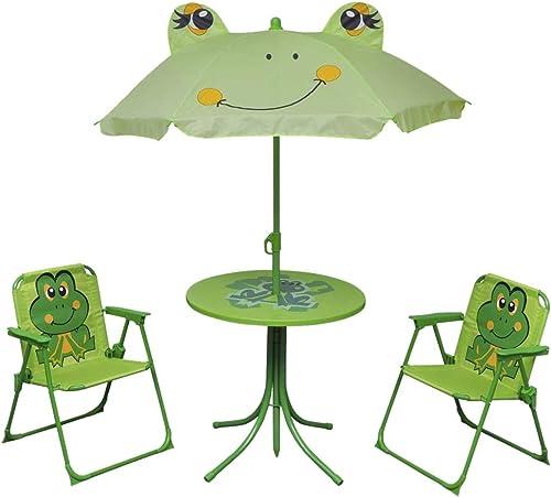 vidaXL Mobilier de Jardin pour Enfants 4 pcs Vert Table et chaises de Jardin