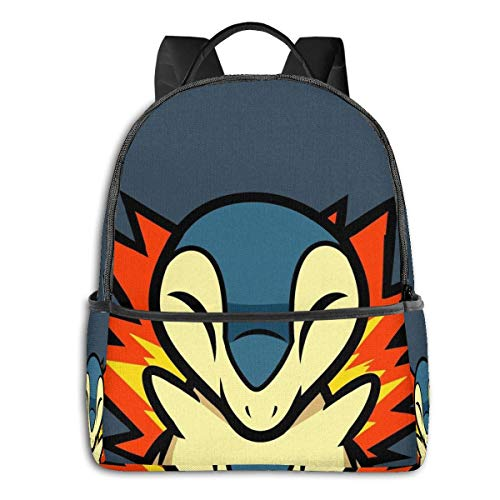 IUBBKI Zaino laterale nero Casual Daypacks Cyndaquil Student School Bag School Cycling Leisure Travel Camping Outdoor Backpack