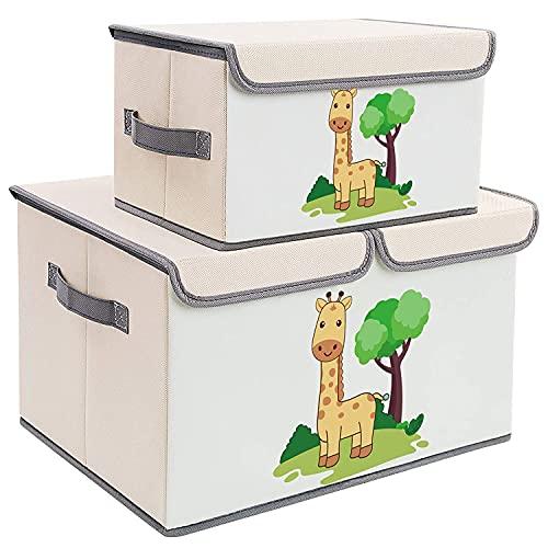 Cofre de juguete – 2 paquetes de organizador de juguetes, baúl de juguete con tapa para niños