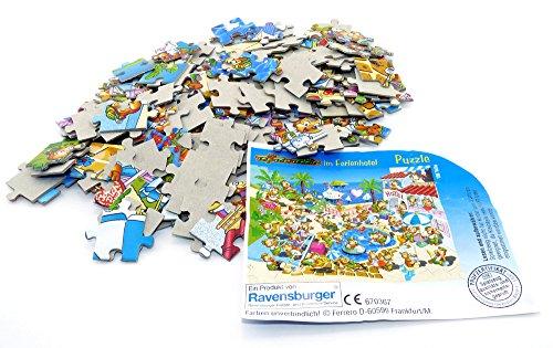 150 Teile Puzzel von den Top Ten Teddies im Traumurlaub, aus dem Maxi Überraschungsei von Ferrero mit Anleitung