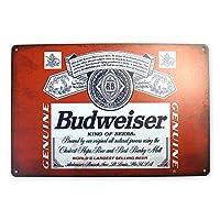 Budweiser ブリキ看板 20cm×30cm バドワイザー ビール A4サイズ アメリカン インテリア雑貨 [並行輸入品]