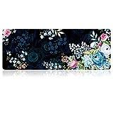 SANFORIN Extra Large Mouse Pad - Floral Design Gaming or Desk Mousepad - 31.5