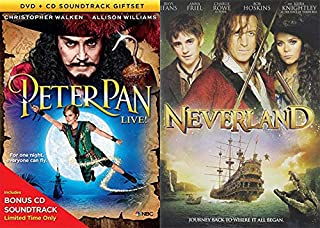 Somewhere in the Peter Pan Fantasy Universe: Peter Pan LIVE w/ Bonus Soundtrack & Neverland DVD Double Feature Movie Musical Bundle