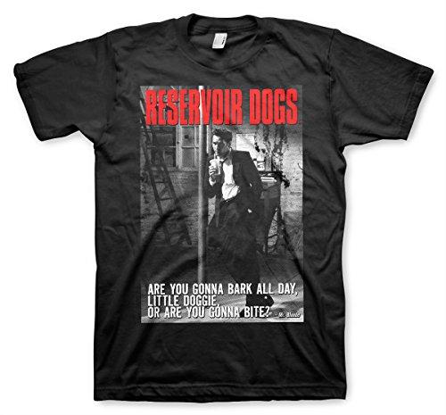 Reservoir Dogs Offizielles Lizenzprodukt Are You Gonna Bite Herren T-Shirt (Schwarz), Medium