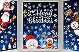 Yutdeng NoëL Autocollants Fenetre NoëL Stickers Décoration DIY Fenêtres Stickers Porte de Bonhomme de Neige Santa Autocollant Amovibles Statique Autocollants DéCalcomanie