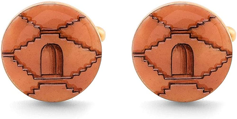 2021 Rosec Jewels Step Well Enameled Vintage Max 58% OFF Cufflinks Ha