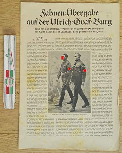 Fahnen-Übergabe auf der Ulrich-Graf-Burg durch den alten Begleiter des Führers in der Kampfzeit Pg. Ulrich Graf am 3. und 4. Juli 1937 in Bachhagel, Kreis Dillingen an der Donau