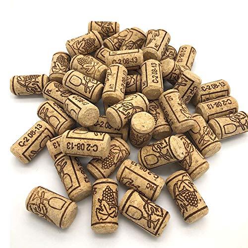 100 pezzi Tappi in sughero da vino tappi di sughero diritti per il bricolage, la decorazione e l'hobbistica/Tappi di bottiglia in sughero naturale/Tappi da vino nuovo (21 * 40mm)
