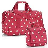 reisenthel Exklusiv-Set: Allrounder L Weekender Plus GRATIS toiletbag (Ruby dots rot Punkte)