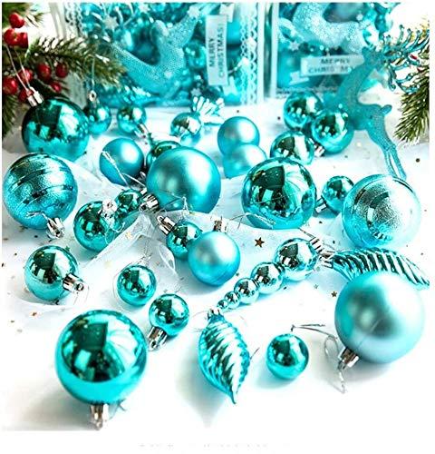 BBGSFDC Reg; 30 bolas de Navidad decorativas para árbol de Navidad, ligeras y respetuosas con el medio ambiente, para colgar ventanas, color amarillo (color: azul)