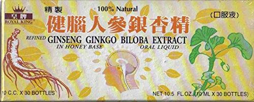 Royal King - Ginseng Ginkgo Biloba Extract Oral Liquid, 10 ml x 30...