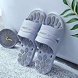 B/H zapatillasdemasajemujer,Zapatillas de casa Antideslizantes, Sandalias de Masaje para baño-Grey_40-41,PiscinaAdultoZapatillasdemasaje