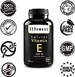 Vitamine E Naturelle 400 UI (D-Alpha-Tocophérol)   200 capsules: quantité pour plus de 6 mois   Antioxydant qui protège les cellules contre les dommages liés au stress oxydatif   de Zenement #3