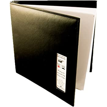 Photo Booth Frames - Black Cover Photo Booth Wedding Guest Book Memory Album DIY Picture Scrapbook with 2x6 Inch Photo Strip Inserts - 50 White Pages