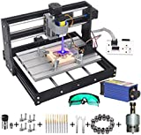 MYSWEETY DIY CNC 3018-PRO 3 Axis CNC Router Kit with 5500mW 5.5W...