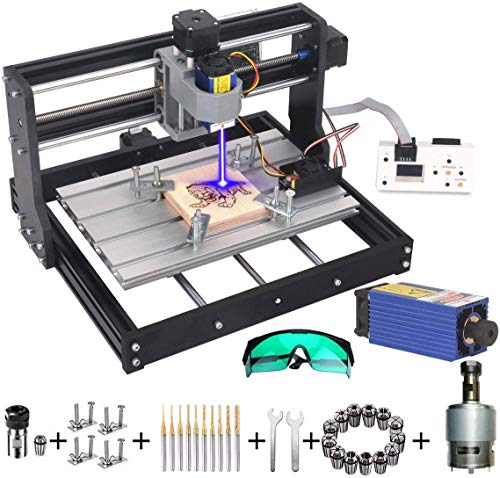 MYSWEETY DIY CNC 3018-PRO 3 Axis CNC Router Kit with 7000mW 7W Module + PCB Milling, Wood Carving Engraving Machine...