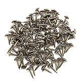 100 clavos redondos para tapicería con cabeza curvada y gruesa grapas de hierro para muebles y puertas de madera