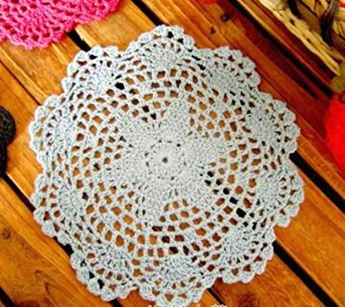 Koffiekopjes onderzetter 20 cm La katoenmat stof keuken haken plapla mat deken diner cup patroon bord pad 20cm Gray Blue