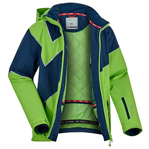 Fifty Five Extrem Skijacke für Herren Saint Andrews Grün Blau 3XL Warme Snowboard Jacke Winterjacke