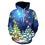 Mr.BaoLong&Miss.GO Otoño E Invierno Navidad Impreso Suéter Chaqueta Camiseta Reno Suéter con Capucha...
