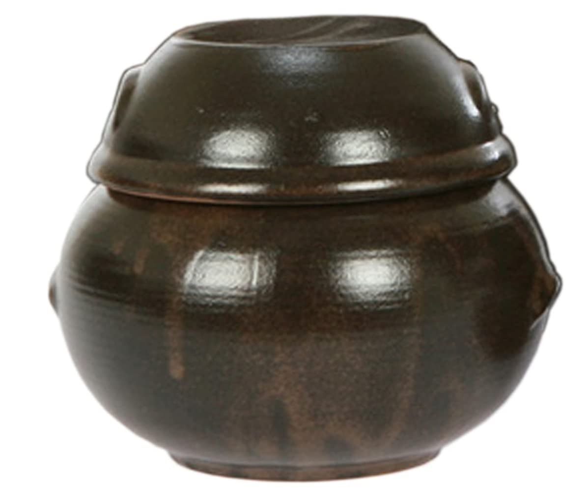 Nsko 16.23ounce(480cc) Korean Traditional Table Earthenware Cute Small Size Pottery Pot Jar with Lid